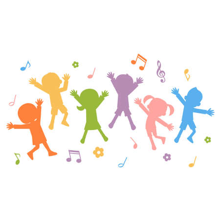 ragazze che ballano: Vector illustration.Original dipinti e disegni.