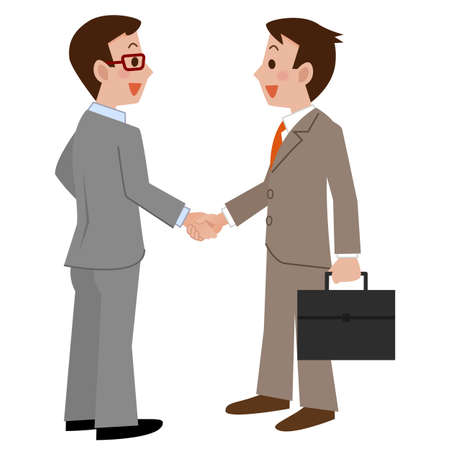 asian business meeting: Vector illustration.Original paintings and drawing.