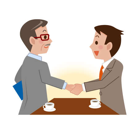 business meeting: Vector illustration.Original paintings and drawing.