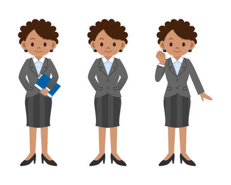 business woman: Pose set of business woman Illustration