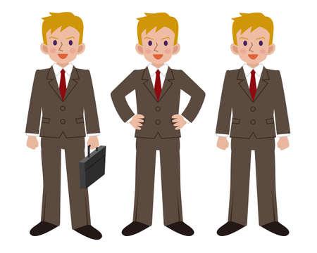 mens: Pose set of businessman