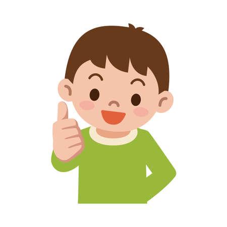 Thumbs up boy