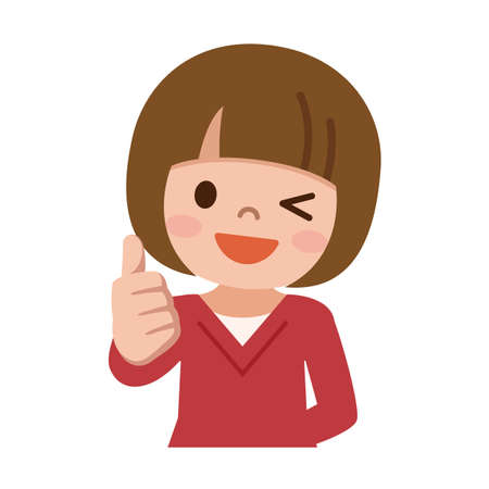 thumbs up: Thumbs up girl