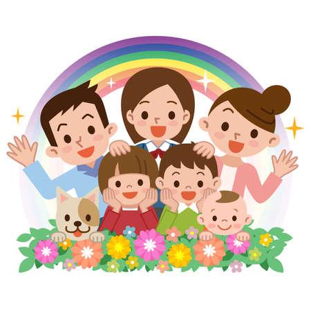 Sonrisa de una familia feliz Foto de archivo - 51348763
