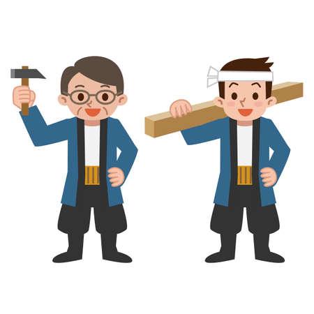 carpentry cartoon: The carpenter of smilemale