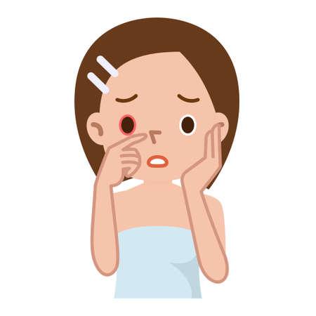 conjunctiva: Sick womens eyes Illustration