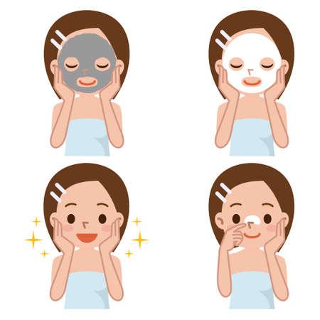 Zestaw do pielęgnacji skóry twarzy kobiety