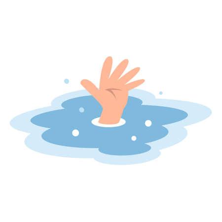 ahogarse: Las manos de personas que se ahogan