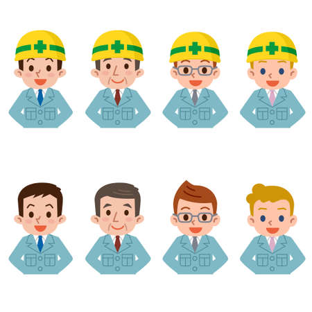 work clothes: Men in work clothes Illustration