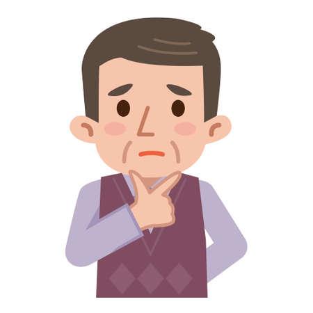persona triste: hombres de mediana edad confusas Vectores