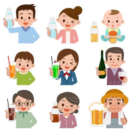 Ludzie, którzy piją napój
