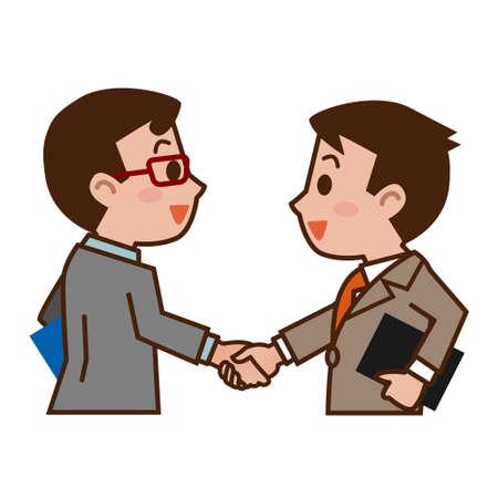 握手のビジネスマン  イラスト・ベクター素材