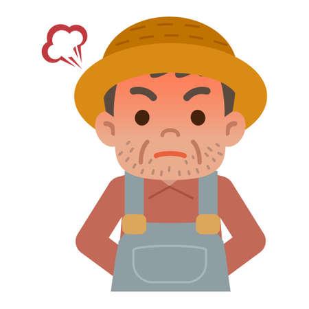 grumpy old man: angry farmer