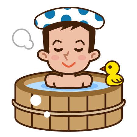 L'uomo in bagno vasca