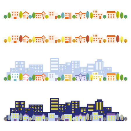 small town: Cityscape illustrations