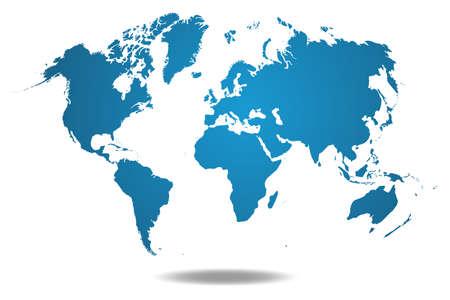 Weltkarte Standard-Bild - 55046488