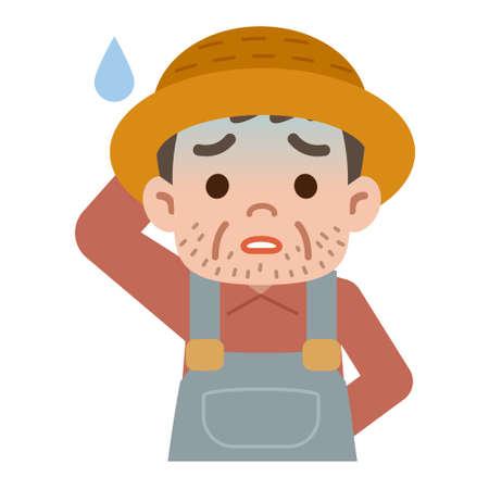 asian gardening: Farmer is sick