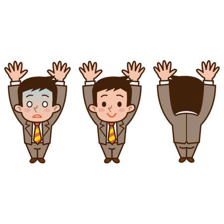 surrendering: businessman surrenders