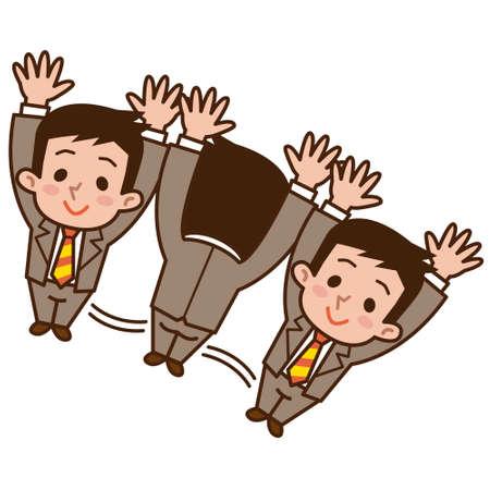 man lying down: Businessman rolling