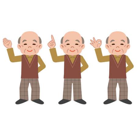 senior men: Senior men pose