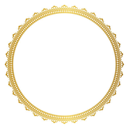 round: Elegant round gold frame Illustration