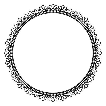 Elegant round frame Stock Vector - 56653096