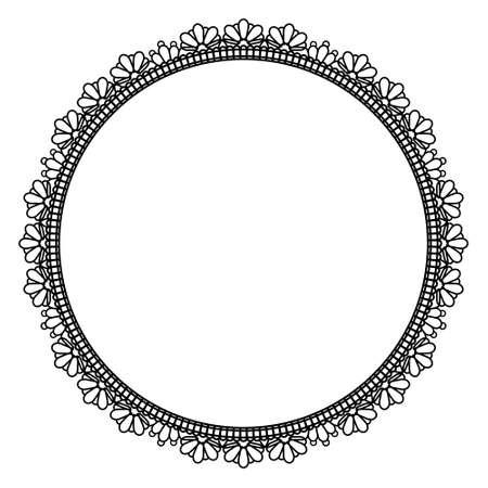 Elegant round frame Ilustrace