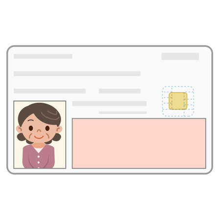 identification card: Illustration of the identification card