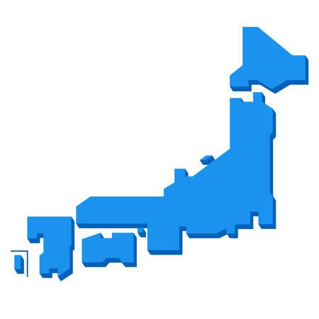 日本の地図  イラスト・ベクター素材