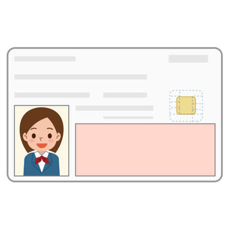 animation teenagers: Illustration of the identification card