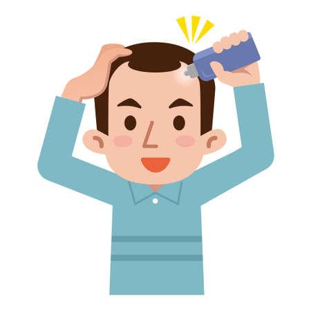 Men paint the hair tonic