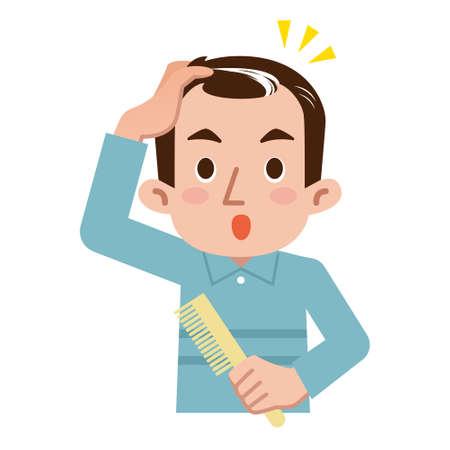 baldness: Men surprised to gray hair
