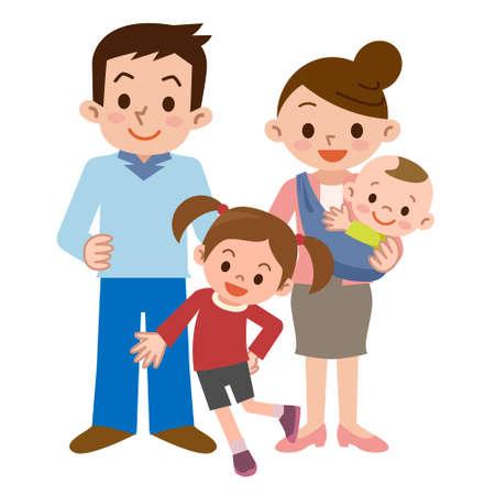 happy family: Smile of a happy family