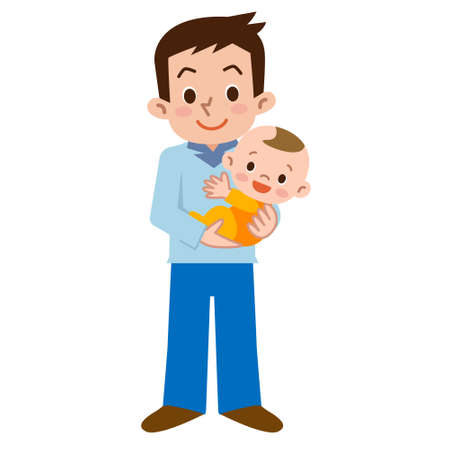 Ojciec i dziecko Ilustracje wektorowe