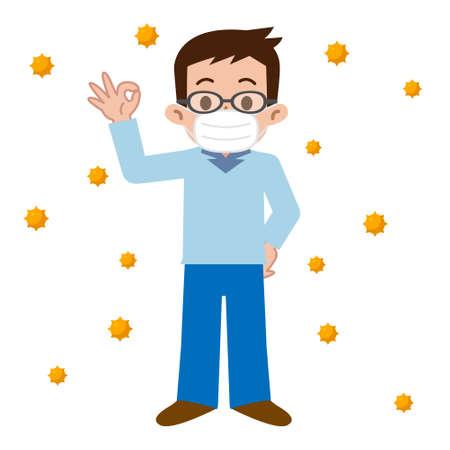 pollen: Men who of hay fever prevention