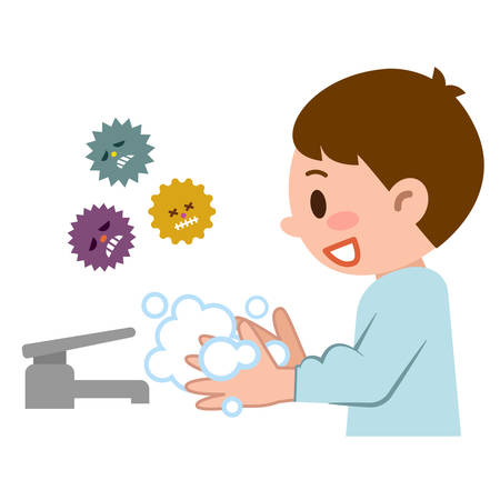 lavamanos: Boy para lavado a mano Vectores