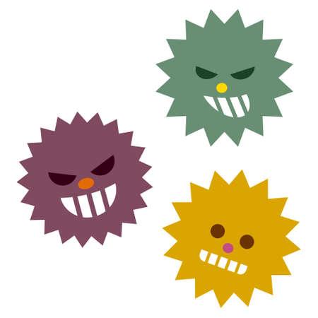 health threat: Illustration of virus