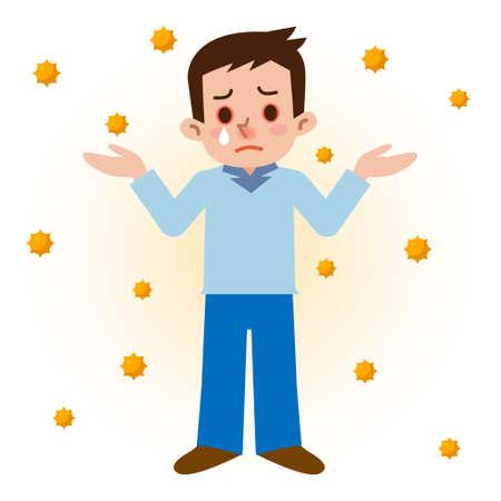 hay: Men of hay fever Illustration