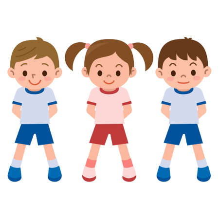 young boy smiling: Childrens exercise clothes