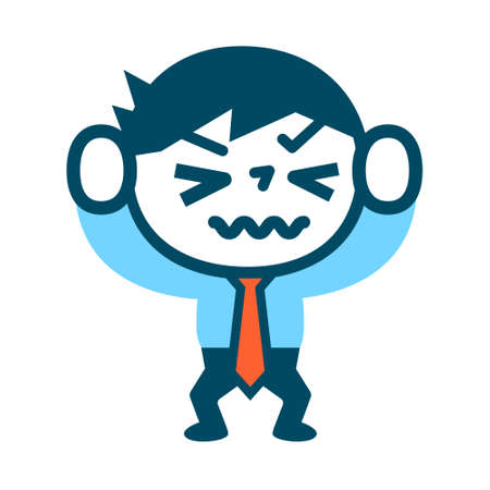 impatient: Businessman is frustrated