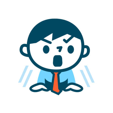 business asia: Illustration of Surprised businessman