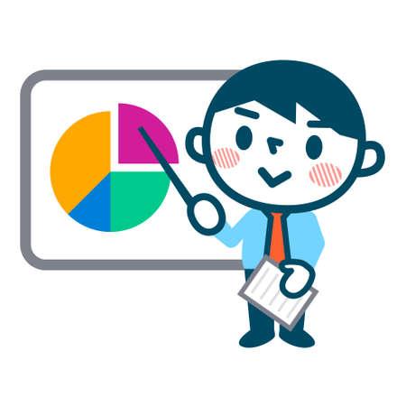 presenter: Businessman to a presentation