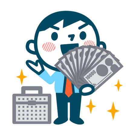 asian adult: Illustration of Wealthy businessman Illustration