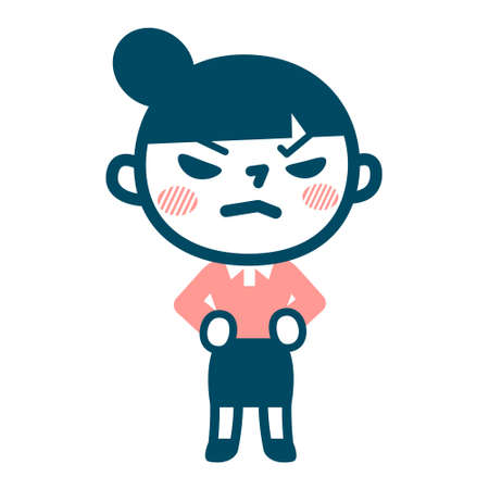 young girl: Young girl who is angry