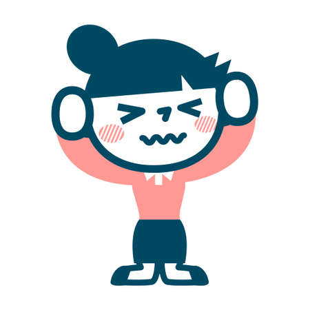 put: Woman to put up with anger Illustration