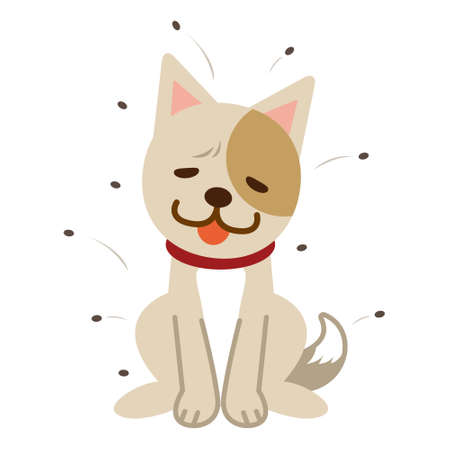 Lice et le chien languissante Vecteurs