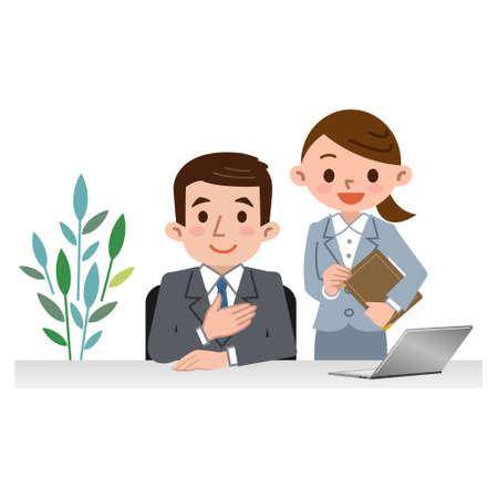 Men and women of consultants  イラスト・ベクター素材