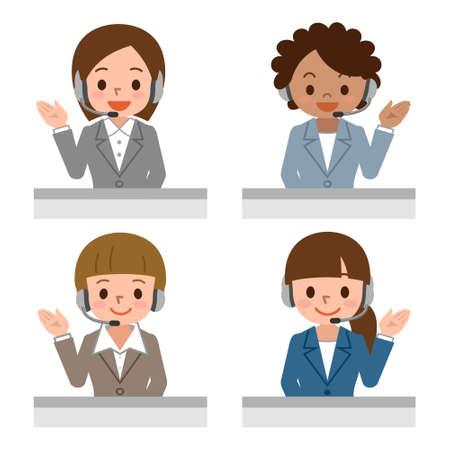 Weibliche Call-Center-Betreiber mit Headset