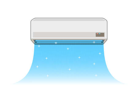 Airconditioning van de illustraties