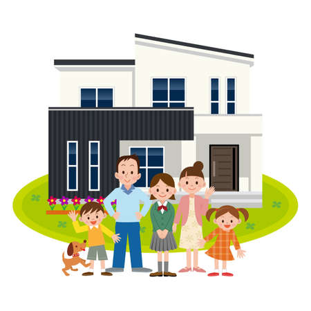 happy family at home: Happy Family and My Home